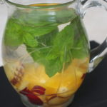 Nektarinen-Orangen-Wasser